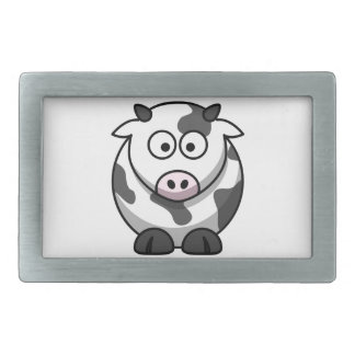 cartoon Moo Cow Rectangular Belt Buckle