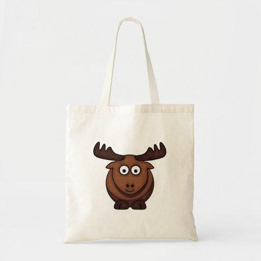 Cartoon Moose Bag Budget Tote Bag