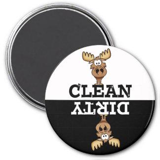 Cartoon Moose Dishwasher Magnet