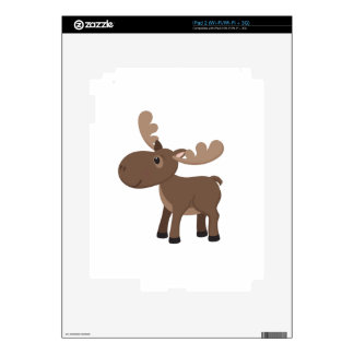 Cartoon Moose iPad 2 Decal