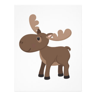 Cartoon Moose Letterhead