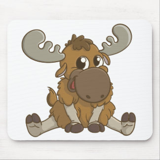 Cartoon Moose Mouse Pad