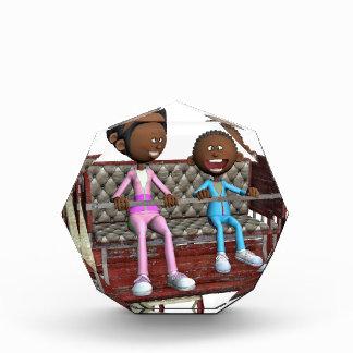Cartoon Mother and Son on a Ferris Wheel Acrylic Award