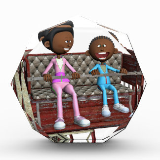 Cartoon Mother and Son on a Ferris Wheel Award