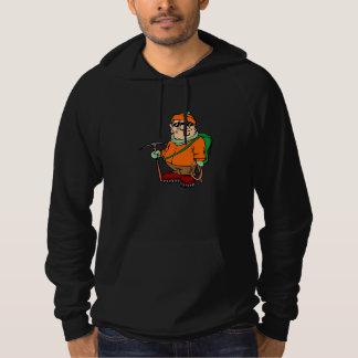 Cartoon Mountain Climber Hoodie