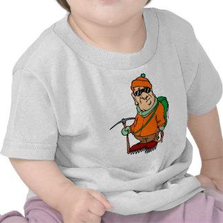 Cartoon Mountain Climber Tee Shirt