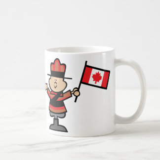 Cartoon Mountie Coffee Mug
