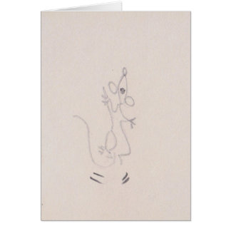 Cartoon mouse dancing up a storm, thank you card