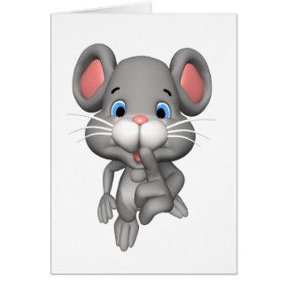 Cartoon Mouse Greeting Card