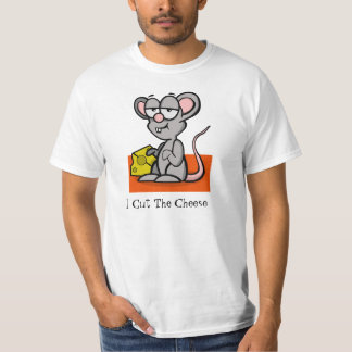 "Cartoon Mouse ""I Cut The Cheese"" T-Shirt"