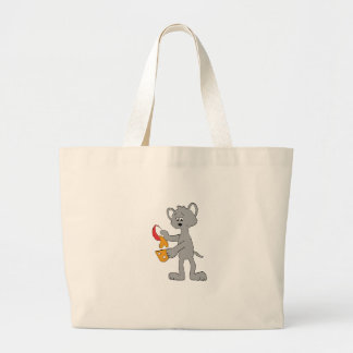 Cartoon Mouse Pouring Melted Cheedar Cheese Jumbo Tote Bag