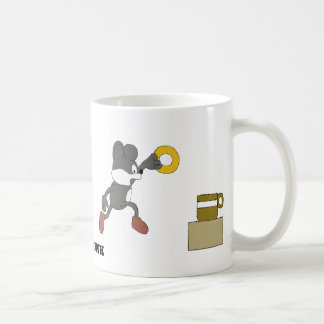 Cartoon Mouse With Coffee And Doughnut Coffee Mug