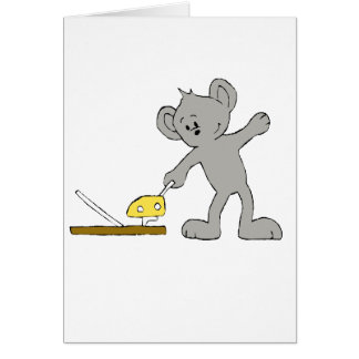 Cartoon Mouse With Trap Card
