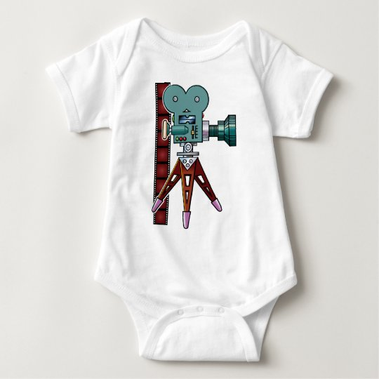 Cartoon Movie Camera Baby Bodysuit