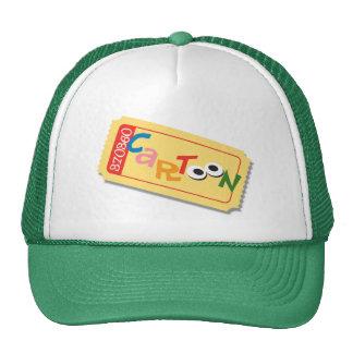Cartoon Movie Ticket Hat