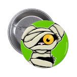 Cartoon Mummy Cat | Halloween Novelty Pinback Button