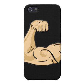 CARTOON MUSCLES MAN strong arm biceps athletic pow Cases For iPhone 5