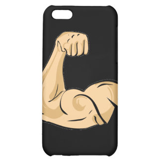 CARTOON MUSCLES MAN strong arm biceps athletic pow iPhone 5C Cover