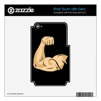 CARTOON MUSCLES MAN strong arm biceps athletic pow iPod Touch 4G Skin