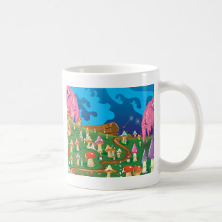 Cartoon Mushrooms in a meadow Coffee Mug