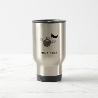 Cartoon Music Note; Grunge Background Travel Mug