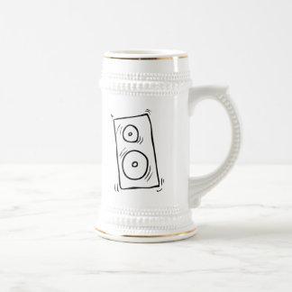 Cartoon Music Speaker 18 Oz Beer Stein