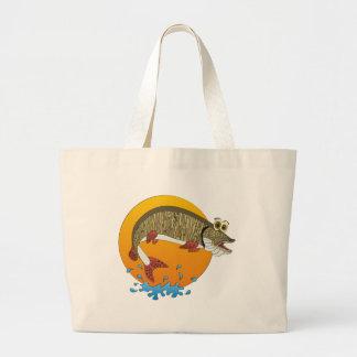 Cartoon Muskie Canvas Bag