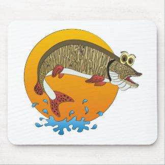 Cartoon Muskie Mouse Pad