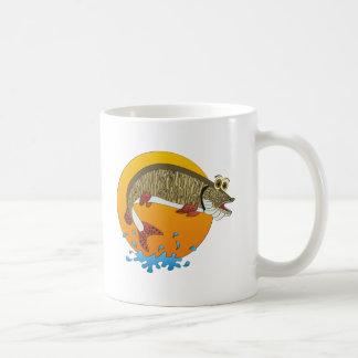 Cartoon Muskie Coffee Mugs