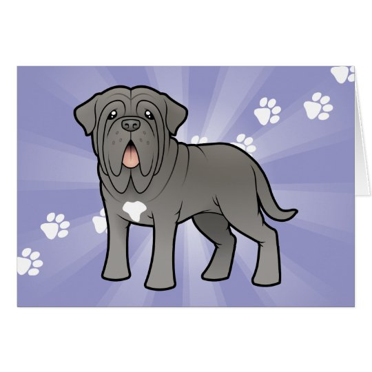 Cartoon Neapolitan Mastiff Card
