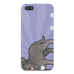 Case Savvy iPhone 5 Matte Finish Case with Mastiff Phone Cases design