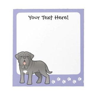 Cartoon Neapolitan Mastiff Notepad