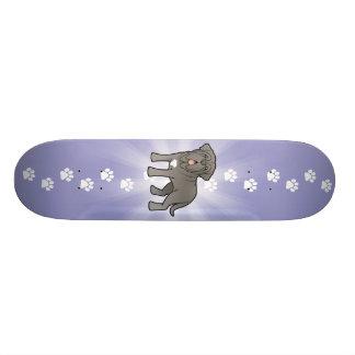 Cartoon Neapolitan Mastiff Skateboard