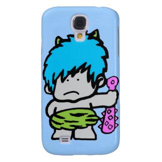 Cartoon Neon Caveman iPhone 3G/3Gs Case Samsung Galaxy S4 Case