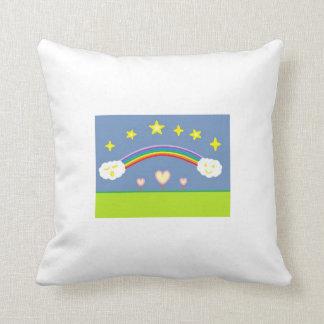 Cartoon Night Sky Pillow
