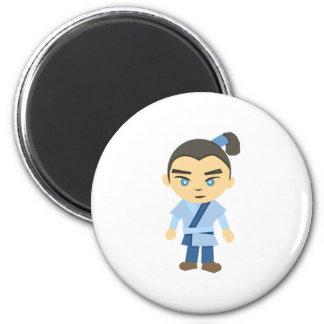 Cartoon Ninja Boy Magnet