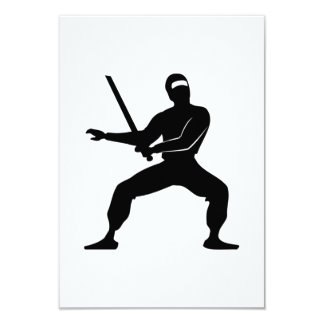 Cartoon Ninja Invites
