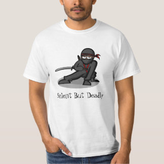 "Cartoon Ninja ""Silent But Deadly"" T-Shirt"
