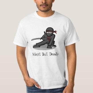 """Cartoon Ninja """"Silent But Deadly"""" T-Shirt"""