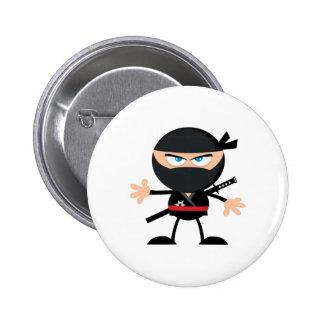 Cartoon Ninja Warrior Button