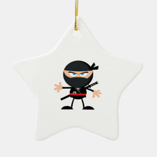 Cartoon Ninja Warrior Ceramic Ornament