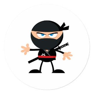 Cartoon Ninja Warrior Invite