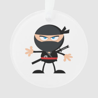 Cartoon Ninja Warrior Ornament