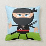 Cartoon Ninja Warrior Pillow