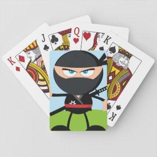 Cartoon Ninja Warrior Playing Cards