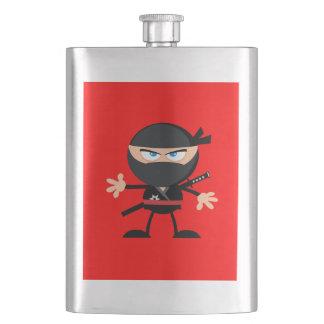 Cartoon Ninja Warrior Red Flask