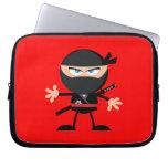 Cartoon Ninja Warrior Red Laptop Computer Sleeves