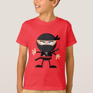 Cartoon Ninja Warrior Red T-Shirt
