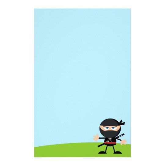 Cartoon Ninja Warrior Stationery