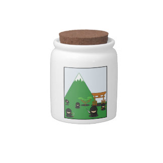 Cartoon Ninjas (in the countryside) Candy Jars